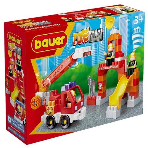 Купить Конструктор Bauer Fireman 740 Пожарная машина и тренировочная площадка, Конструкторы