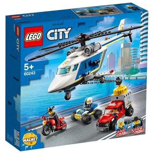 Конструктор LEGO City 60243 Погоня на полицейском вертолёте конструктор city lego lego mp002xb00c9t