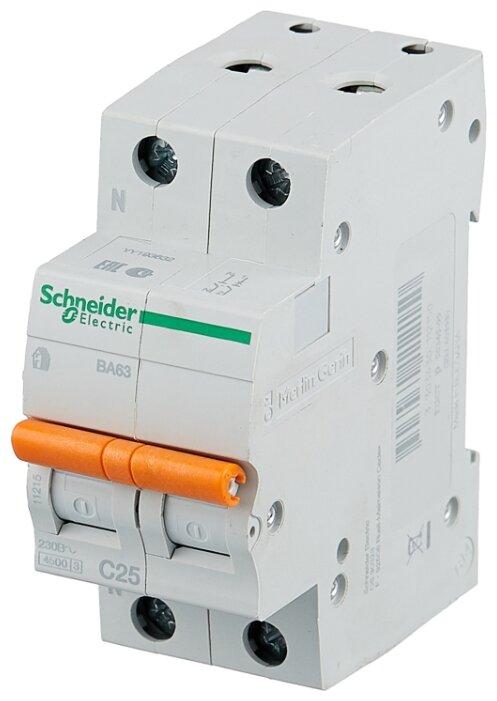 Автоматический выключатель Schneider Electric ВА63 1P+N (C) 4.5kA