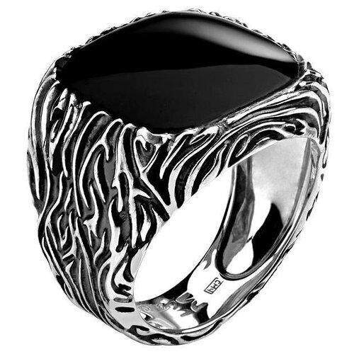 Эстет Кольцо с 1 агатом из серебра 01Т458793Ч-1, размер 19