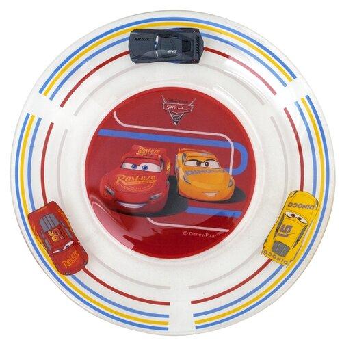 ОСЗ Тарелка десертная Тачки 3 19.6 см красный/желтый/белый