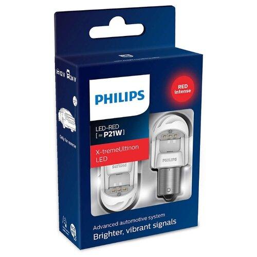 Лампа автомобильная светодиодная Philips X-tremeUltinon LED gen2 11498XURX2 P21W 2 шт. philips светодиодная лампа 4 режима света
