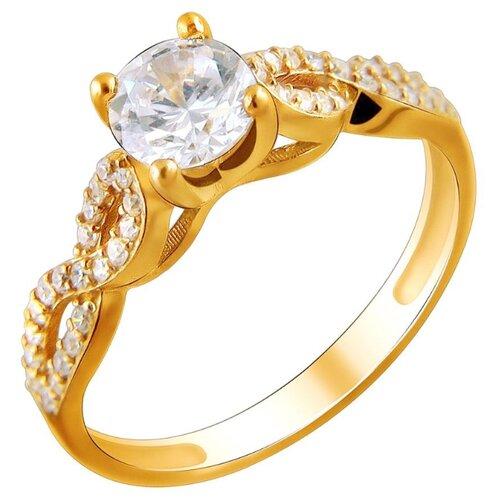 Эстет Кольцо с 43 фианитами из серебра с позолотой 01К1511444А, размер 17 эстет кольцо с 43 фианитами из серебра н11к152891 размер 17