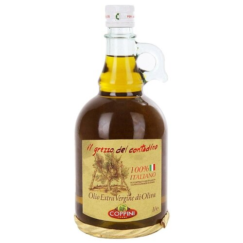 COPPINI Масло Масло оливковое Grezzo Contadino Extra Virgin нерафинированное 1 л