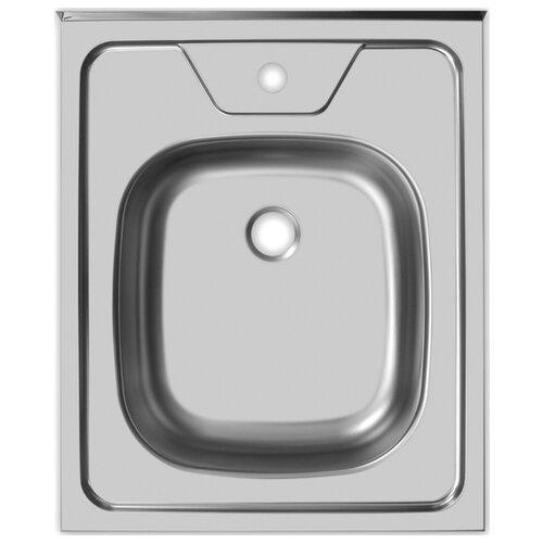 Накладная кухонная мойка 50 см UKINOX Standart STD500.600 ---5C 0C- нержавеющая сталь матовая мойка врезная ukinox классика clm480 480 5c 0c нержавеющая сталь