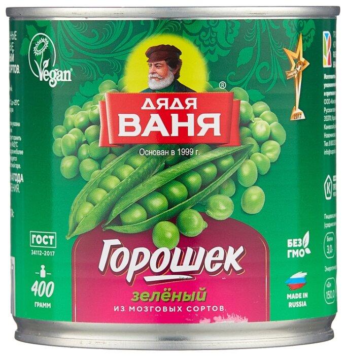 Горошек зелёный Дядя Ваня, жестяная банка 400 г