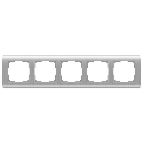 цена Рамка 5п Werkel WL12-Frame-05, серебристый онлайн в 2017 году