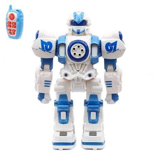 Фото - Робот Zhorya Шунтик ZYI-I0014 белый/синий радиоуправляемый робот zhorya интерактивный белый кот 2059