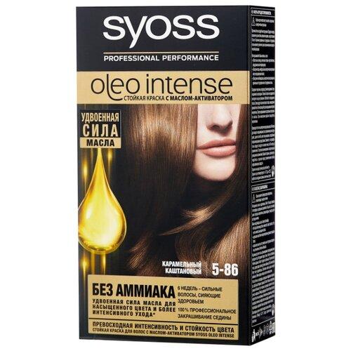 Syoss Oleo Intense Стойкая краска для волос, 5-86 Карамельный каштановый syoss oleo intense краска для волос тон 7 10 натуральный светло русый 115 мл