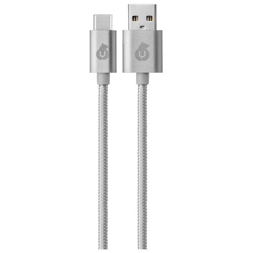 Кабель uBear Cord USB - USB Type-C (DC07) 1.2 м серыйКомпьютерные кабели, разъемы, переходники<br>