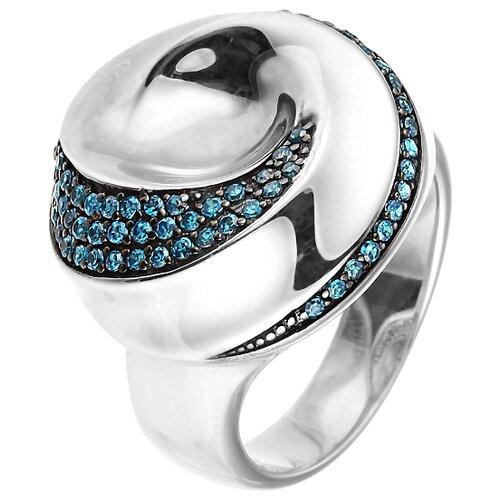 Фото - JV Кольцо с фианитами из серебра 05S2AZR104806BURI-001-WG, размер 18 jv кольцо с ониксами и фианитами из серебра pr150002b ox 001 wg размер 17
