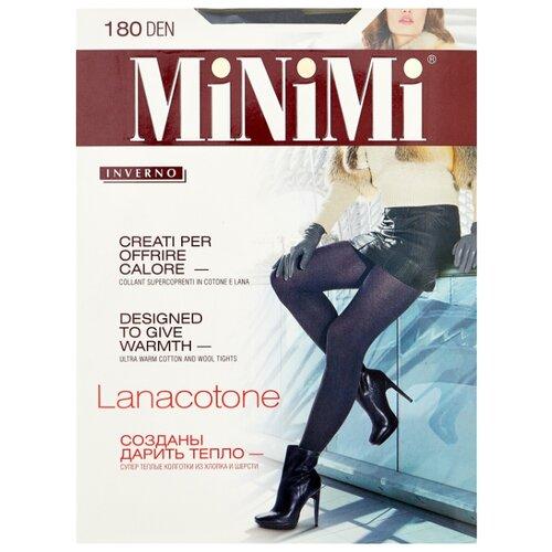 Колготки MiNiMi Lanacotone 180 den, размер 3-M, fumo (серый) колготки minimi lanacotone 180 den размер 3 m nero черный