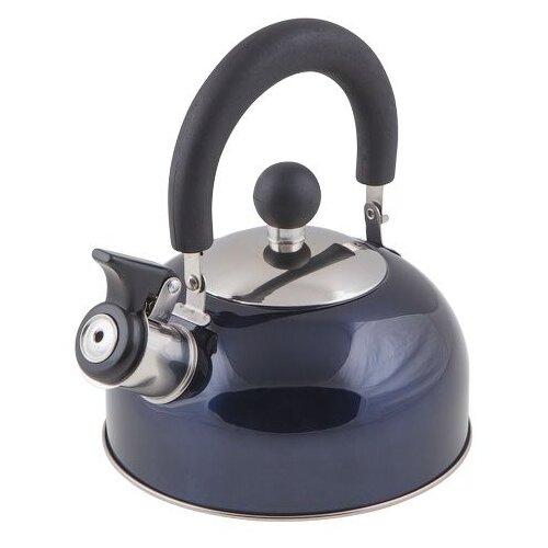 Чайник со свистком, нержавеющая сталь, 1.2 л, серия Holiday, синий металлик, PERFECTO LINEA (диаметр 16,5 см, высота 13,5 см, общий объем изделия 1,5л