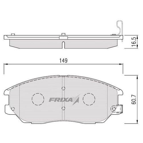 Фото - Дисковые тормозные колодки передние Frixa FPHXGN для Hyundai (4 шт.) дисковые тормозные колодки передние frixa fpe019 для toyota camry 4 шт