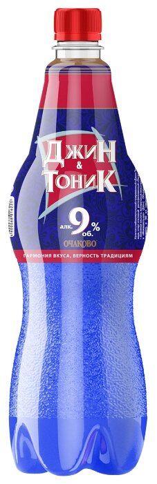 Напиток слабоалкогольный Джин-Тоник Очаково 1 л
