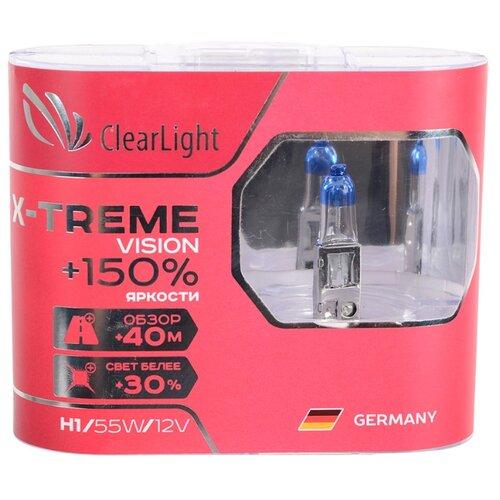 цена на Лампа автомобильная галогенная ClearLight X-treme Vision +150% MLH1XTV150 H1 12V 55W 2 шт.