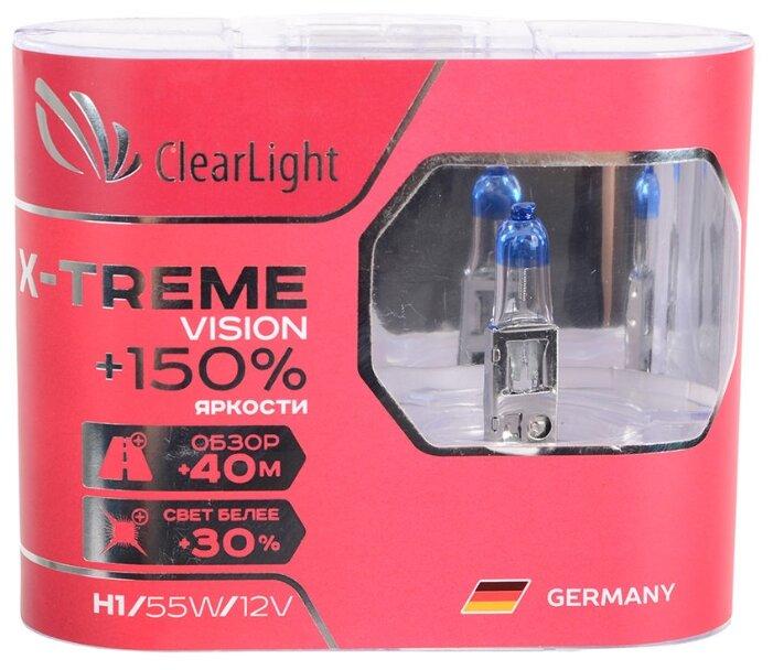 Лампа автомобильная галогенная ClearLight X-treme Vision +150% MLH1XTV150 H1 12V 55W 2 шт. — купить по выгодной цене на Яндекс.Маркете
