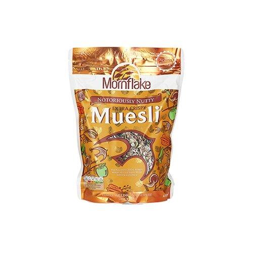Мюсли Mornflake с орехами, пакет, 650 г мюсли axa медовые с фруктами и орехами 250 гр