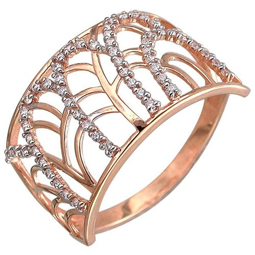Эстет Кольцо с фианитами из красного золота 01К119111, размер 19