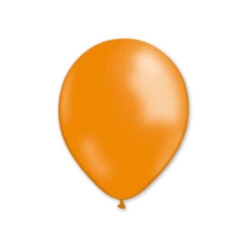 Набор воздушных шаров MILAND Металлик 13 см (100 шт.) мандариновый