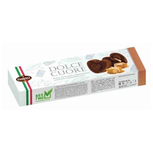 Пирожное Faretti Какао-бисквиты с карамельной начинкой и щепоткой соли 120 г