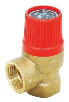Предохранительный клапан Tim BL22FF-K-1.5bar мембранный муфтовый (ВР/ВР), латунь, 1.5 бар, Ду 15 (1/2