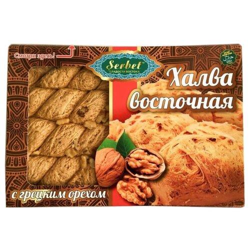 Халва Sherbet Восточная с грецким орехом 300 г халва летняя с грецким орехом и какао 400 г