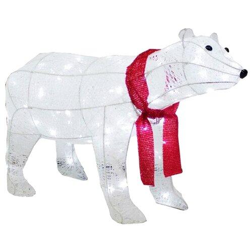 Фигурка FirstBird Белый медведь с красным шарфом белый