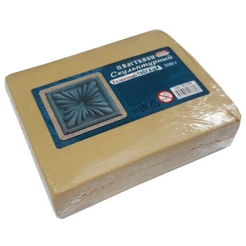 Купить Пластилин скульптурный, твердый, 500 грамм, телесный, Проф-Пресс, Пластилин и масса для лепки