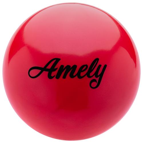 Мяч для художественной гимнастики Amely AGB-101 19 см красный