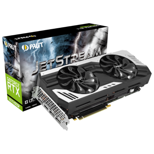 Купить Видеокарта Palit GeForce RTX 2070 SUPER 1605MHz PCI-E 3.0 8192MB 14000MHz 256 bit HDMI 3xDisplayPort HDCP JetStream Retail