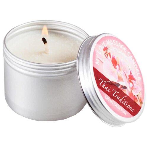 Массажная свеча Thai Traditions Любовь Моя серебристый