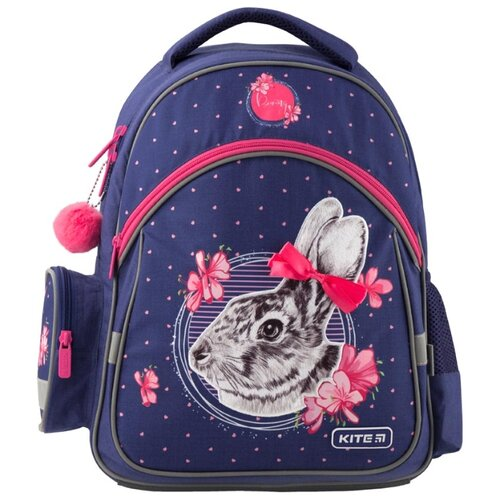 Купить Kite Рюкзак Education Fluffy bunny K19-521S синий, Рюкзаки, ранцы