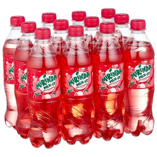 Газированный напиток Mirinda Mix-It Клубника-Личи, 0.5 л, 12 шт.