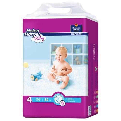 Helen Harper подгузники Baby 4 (7-14 кг) 84 шт. подгузники helen harper baby размер 4 maxi 7 14 кг 62 шт 5411416 029731