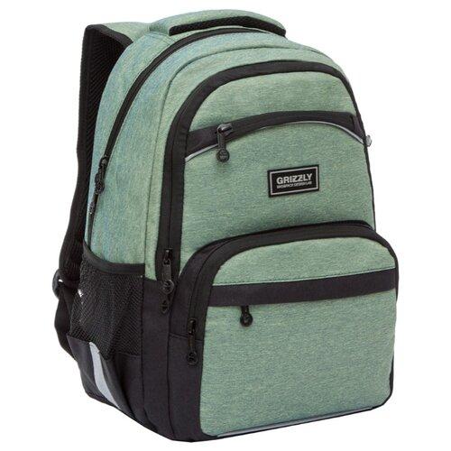 Grizzly рюкзак (RB-054-6), зеленый рюкзак grizzly grizzly mp002xm23sic