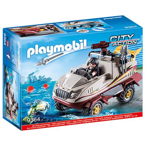 Набор с элементами конструктора Playmobil City Action 9364 Грузовик-амфибия набор с элементами конструктора playmobil city life 9078 шопинг торговый центр