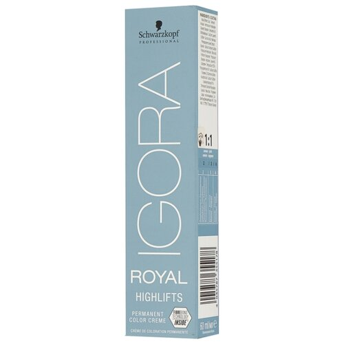 Купить Schwarzkopf Professional Igora Royal краситель для волос Highlifts, 10-1 экстрасветлый блондин сандре, 60 мл