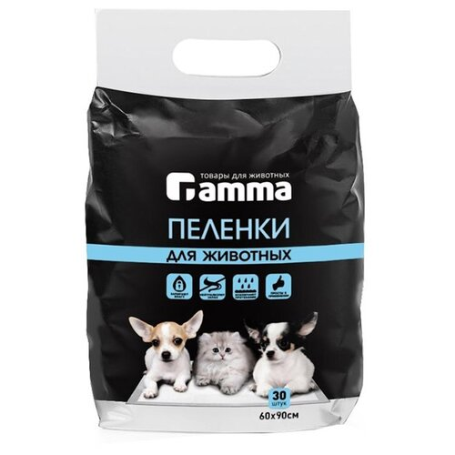 Пеленки для щенков впитывающие Гамма 30552006 / 30552007 90х60 см 30 шт.