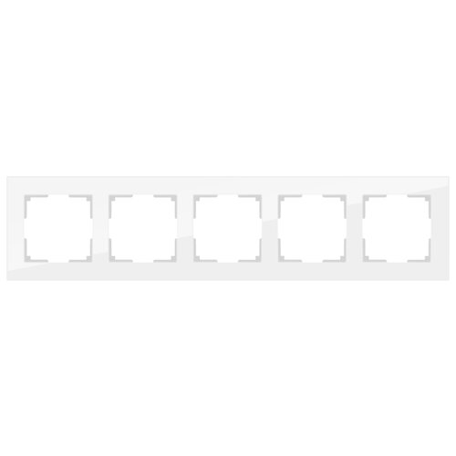 Рамка 5п Werkel WL01-Frame-05, белый рамка электроустановочная werkel на 5 постов белый стекло wl01 frame 05 белый