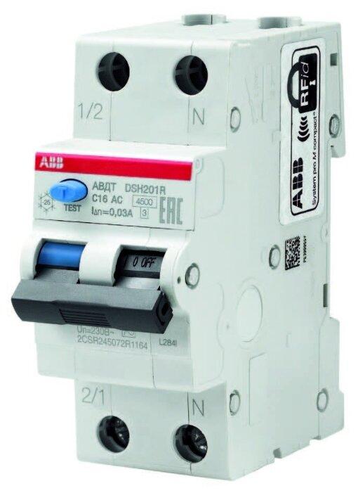 Дифференциальный автомат ABB DSH201R 2П 30 мА C