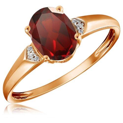 Бронницкий Ювелир Кольцо из красного золота R01-D-69019R002-R17, размер 17 бронницкий ювелир кольцо из красного золота r01 d 1983089ab r17 размер 17