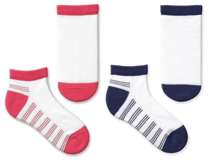Купить Носки НАШЕ комплект 2 пары размер 22 (20-22), розовый/индиго по низкой цене с доставкой из Яндекс.Маркета