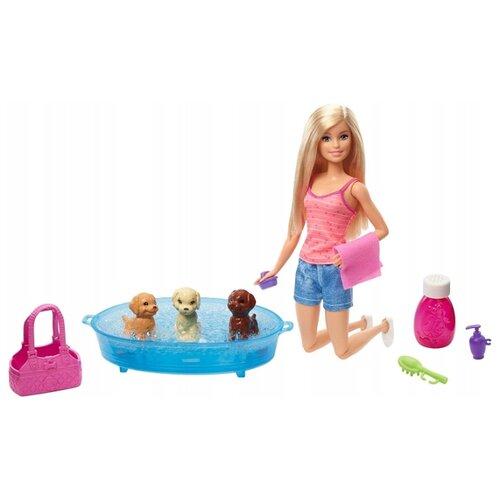 Купить Кукла Barbie Купание щенков, 30 см, GDJ37, Куклы и пупсы