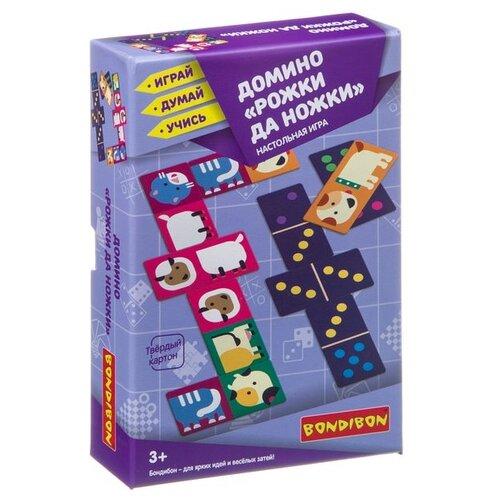 Фото - Настольная игра BONDIBON Домино Рожки да ножки ВВ3905 настольная игра радуга забавные