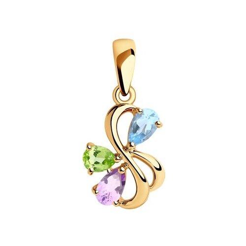 Diamant Подвеска из золота с полудрагоценными вставками 51-330-00346-1
