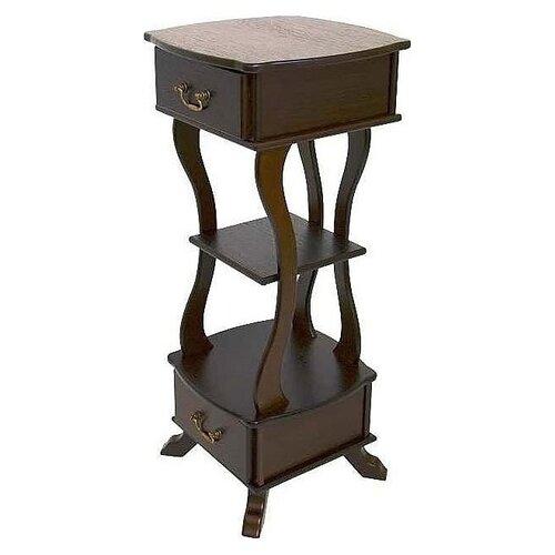Фото - Подставка интерьерная журнальный Мебелик Берже 14, ДхШ: 49 х 49 см, темно-коричневый подставка мебелик берже 14 темно коричневый