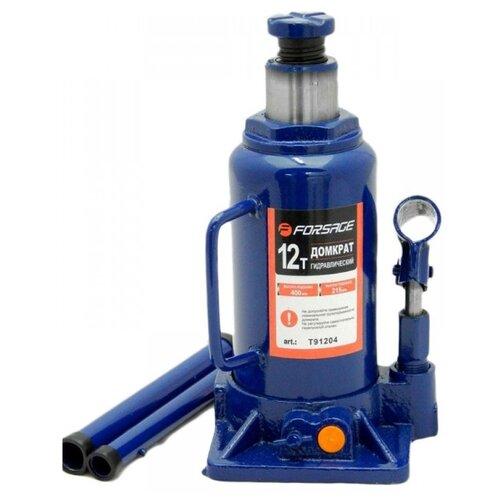 Домкрат бутылочный гидравлический Forsage F-T91204 (12 т) синий