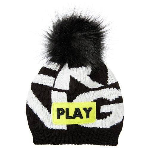 Купить Шапка playToday размер 54, черный/белый, Головные уборы