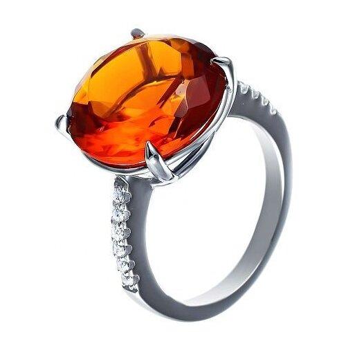 JV Кольцо с стеклом и фианитами из серебра SY-356178-R-KO-US-003-WG, размер 18 jv кольцо с фианитами из серебра sy 355491 r 003 wg размер 18 5